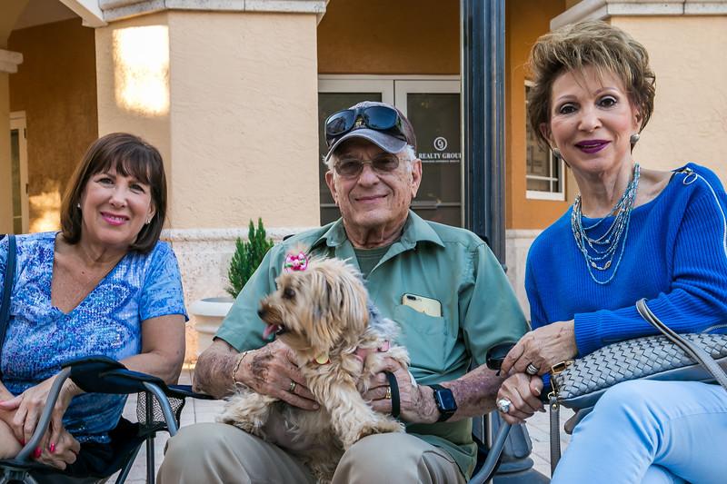 Lynn Goldman, Don and Lee Berman and Chanel the dog