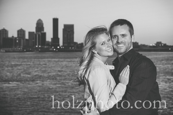 Lexie & Cody B/W Engagement Photos