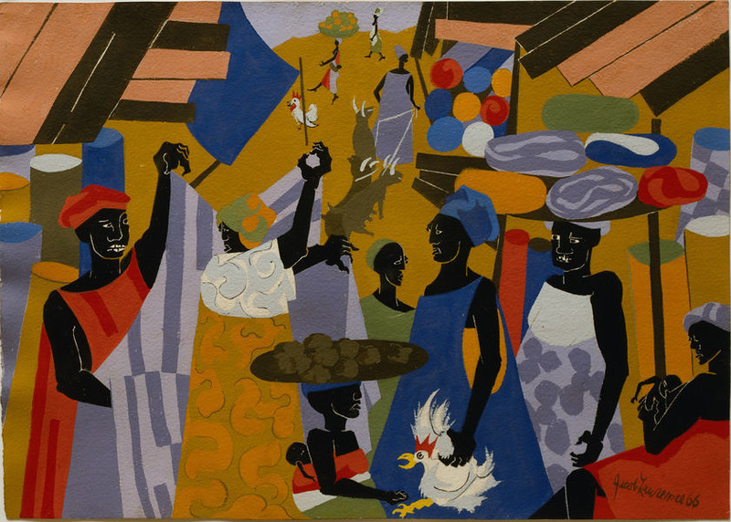"Jacob Lawrence, ""Marketplace,"" 1966"