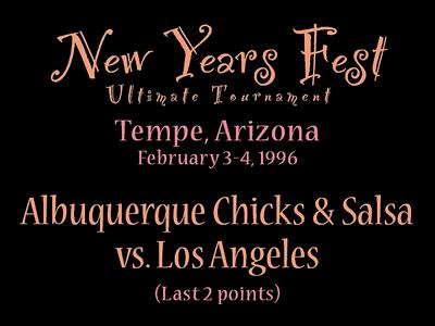 1996 NYF - ABQ vs. LA