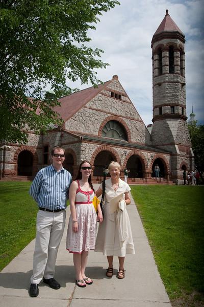 Day 3 - Cory, Jillian, Janet at Rollins Chapel