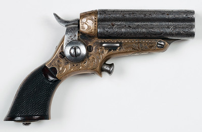 Starr Four Barrel Pepperbox Fifth Model Engraved