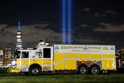 World Trade Center Memorial in Light