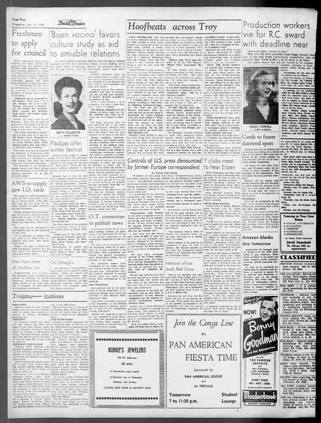 Daily Trojan, Vol. 37, No. 51, January 17, 1946