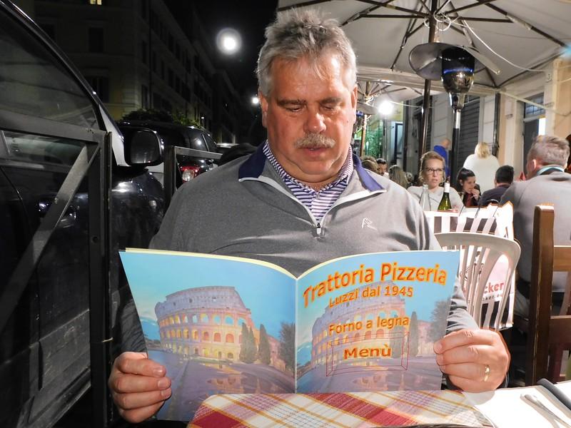 First Italian dinner at the Trattoria Luzzi