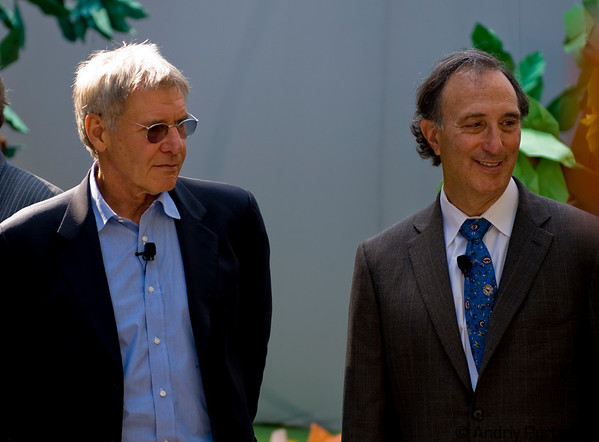 Harrison Ford and Peter Seligmann, Chairman and CEO of Conservation International
