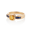1.48ctw Yellow and Blue Sapphire Ring 1