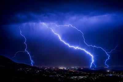 Summer lightning storms 2017