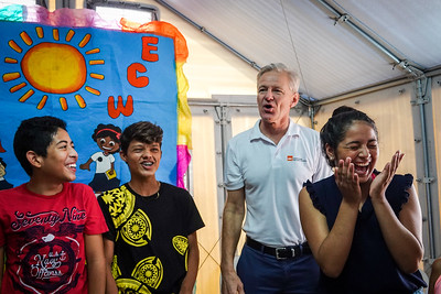 Jan's visit to NRC`s beneficiaries