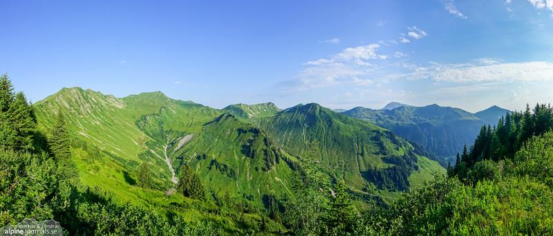 Guntlespitze hiking, Kleinwalsertal