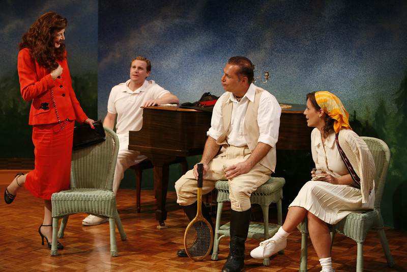 Leslie Hendrix, Alex Cranmer, Al Sapienza and Katie Firth in SUSAN AND GOD by Rachel Crothers  Photo: Richard Termine