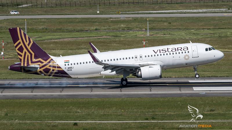 Vistara / Airbus A320-251N / F-WWBJ (to be VT-TNB)