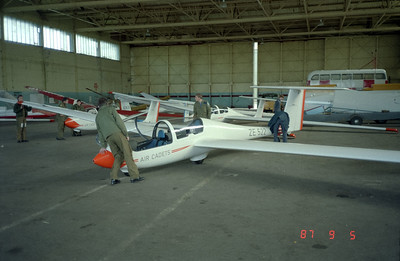 Getting the Swiss glider for some training flights for the Air Cadets in Salisbury, England.
