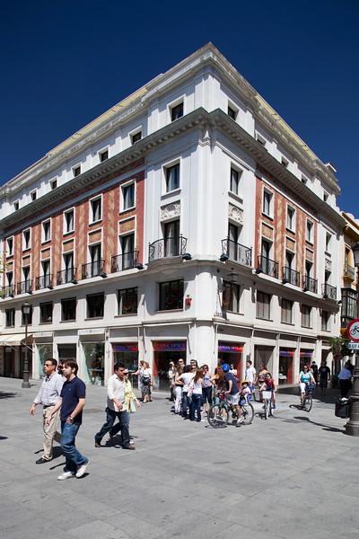 Building on Plaza Nueva, Seville, Spain