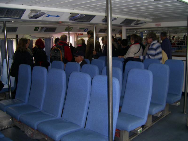 On board CELESTINA : ready to disembark.