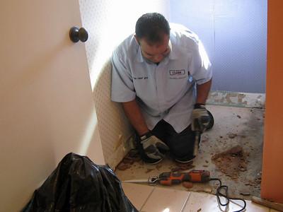 Bathroom Tile Repair 10-06-09
