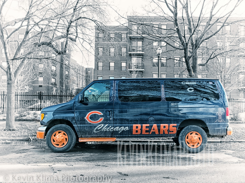 Chicago Bears Van