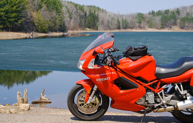 Last Ice on Perch Lake With Ducati.