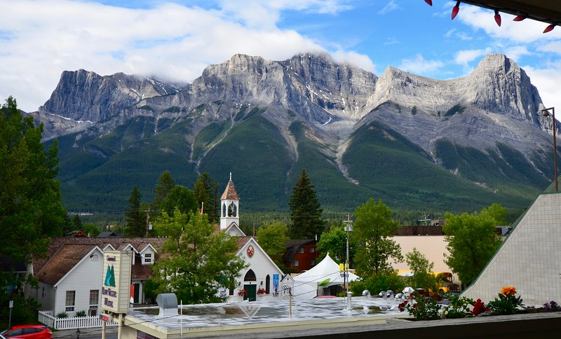 View from Bow Valley Motel, Canmore