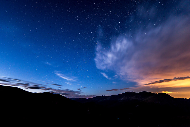 Night Sky over the Rocky Mountains