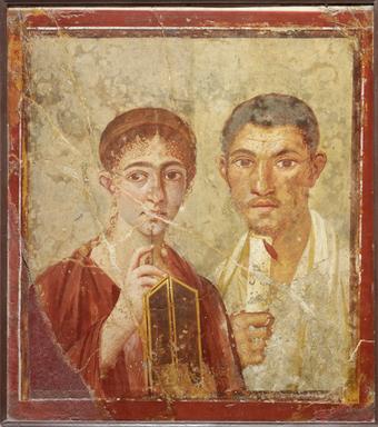 Description of . Portrait of Terentius Neo and his wife. Pompeii, AD 55–79. © Soprintendenza Speciale per i Beni Archeologici di Napoli e Pompei