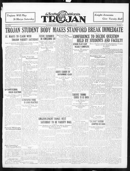 The Southern California Trojan, Vol. 16, No. 19, November 05, 1924