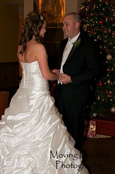 Erin & Evan Wedding - Evan's first look at Erin in her fabulous gown