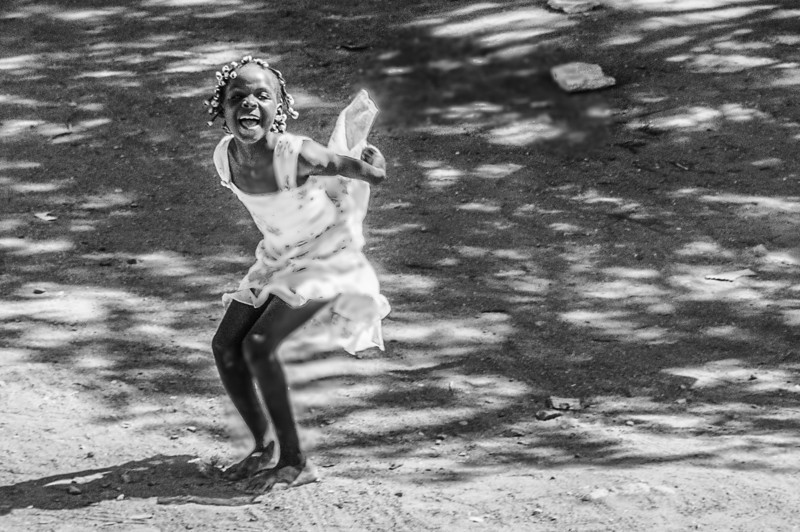 A girl in Lobito, Angola