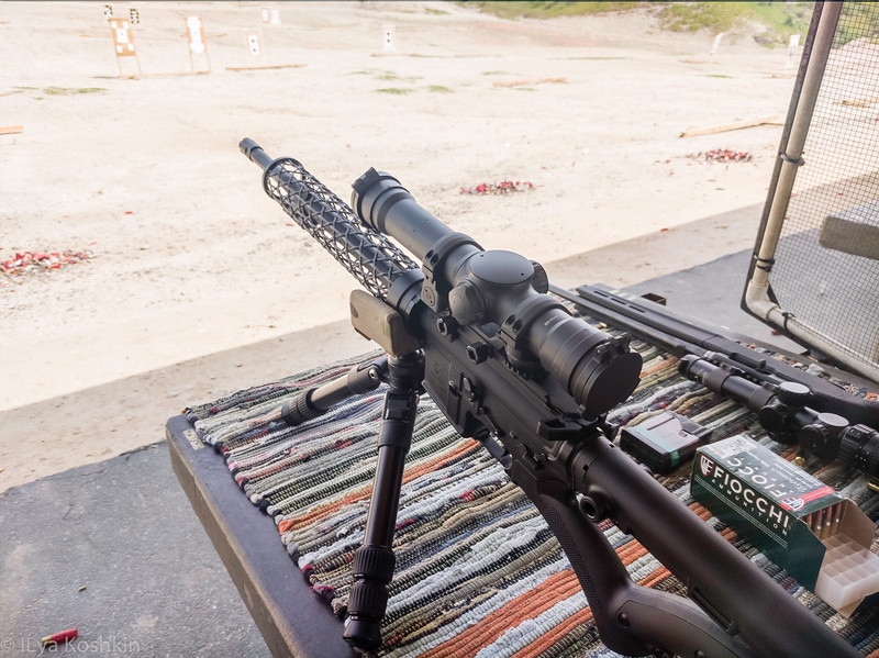 Elcan Spectre TR on a similar AR-15 (this is not on my Grendel, but this is the only picture I can find right now).