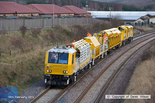 2014, 10th February, HOPS electrification train at Ollerton