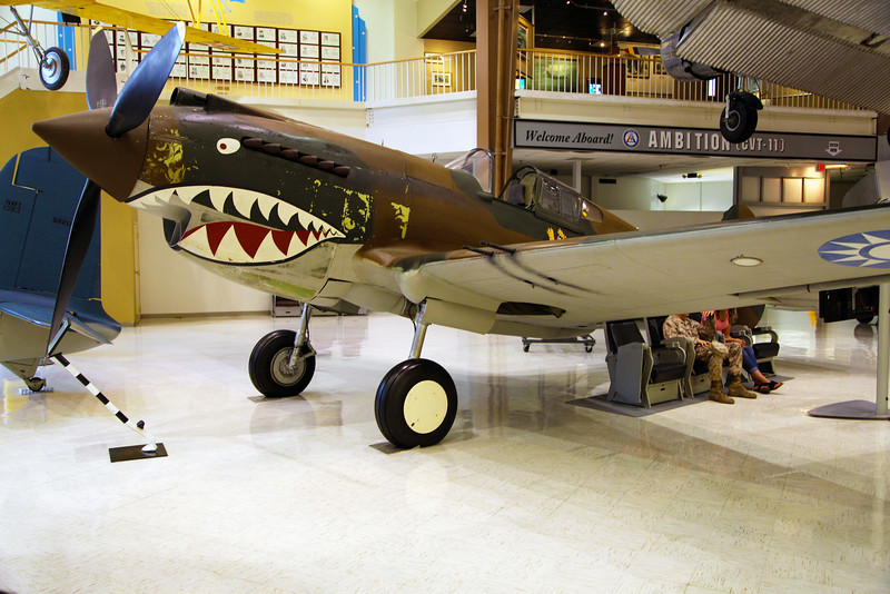 The venerable P-40 Tommyhawk with Flying Tiger markings.