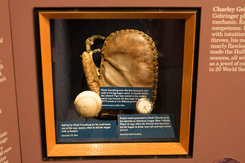 Hank Greenberg's first baseman's glove -- A trip to the Baseball Hall of Fame, Cooperstown, NY, June 2014