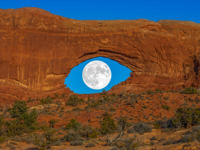 Desert Eye: Full Moon Arches National Park Fuji GFX100 Fine Art Landscape Nature Photography