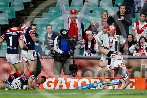 NRL. SYDNEY ROOSTERS V ST GEORGE ILLAWARRA DRAGONS. RD 22. 3 AUGUST 2012