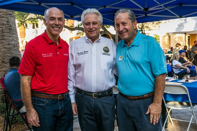 Commissioner Byron Jaffe, State Representative Richard Stark, Mayor Daniel Stermer
