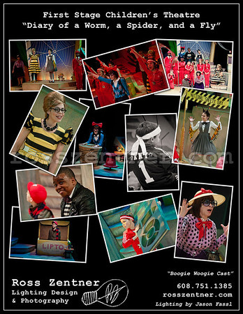"""First Stage Children's Theatre """"Diary of a Worm, Spider, and Fly - Boogie Woogie Cast"""