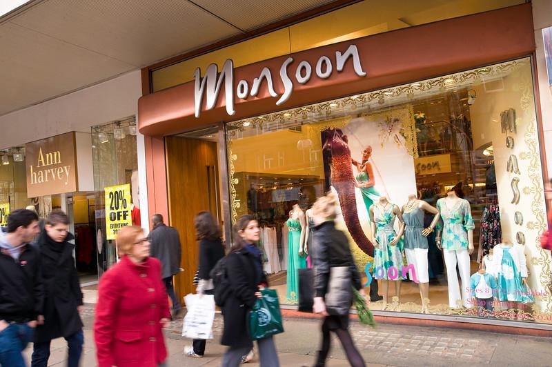 People shopping on Oxford Street, London, United Kingdom