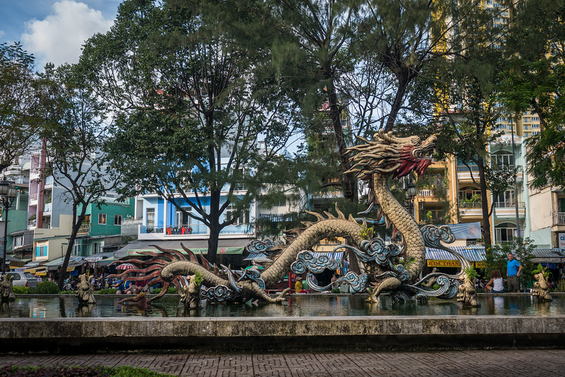 Dragon fountain in Cholon.