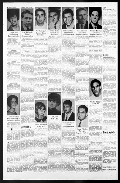 Daily Trojan, Vol. 57, No. 109, April 26, 1966