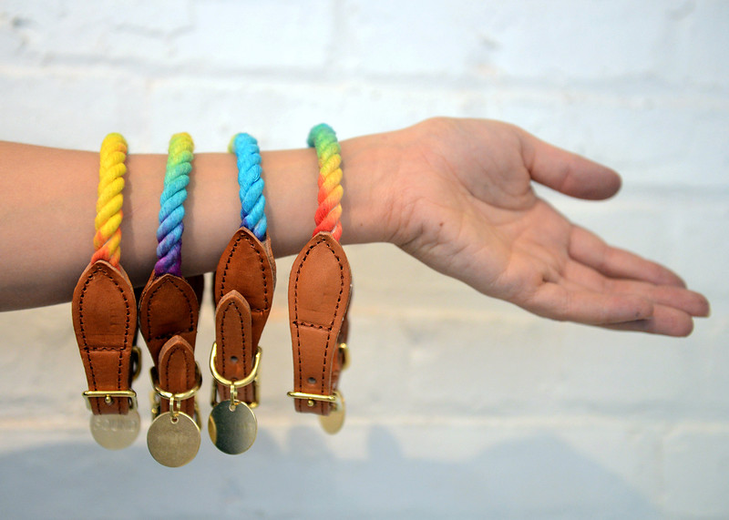 Tania Barricklo-Daily Freeman    Hand-made collars.