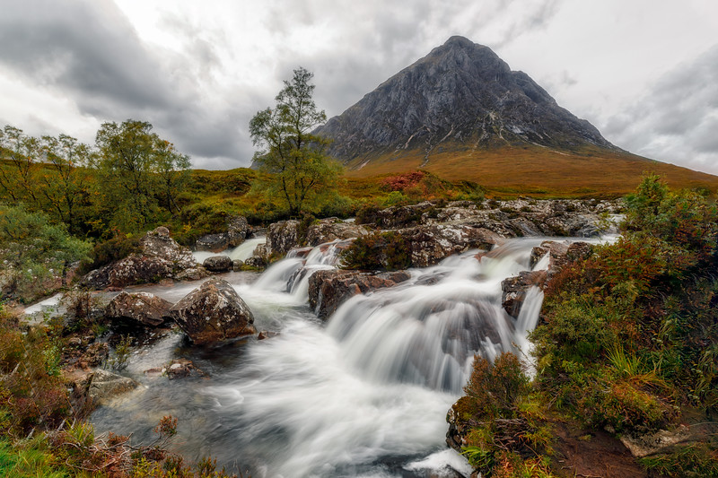 Glencoe Etive Waterfall