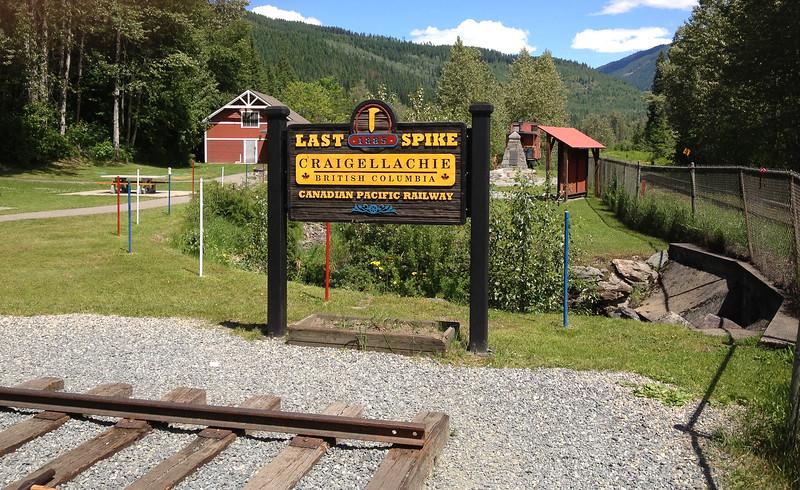 Ort wo der letzte Nagel der Canadian Pacific Railway eingeschlagen wurde