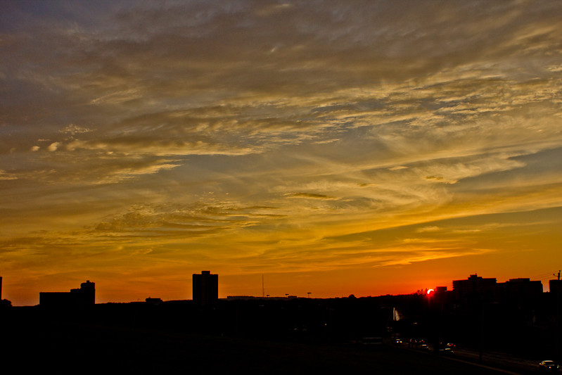 Sun at the Horizon at the End of Day in Halifax Nova Scotia