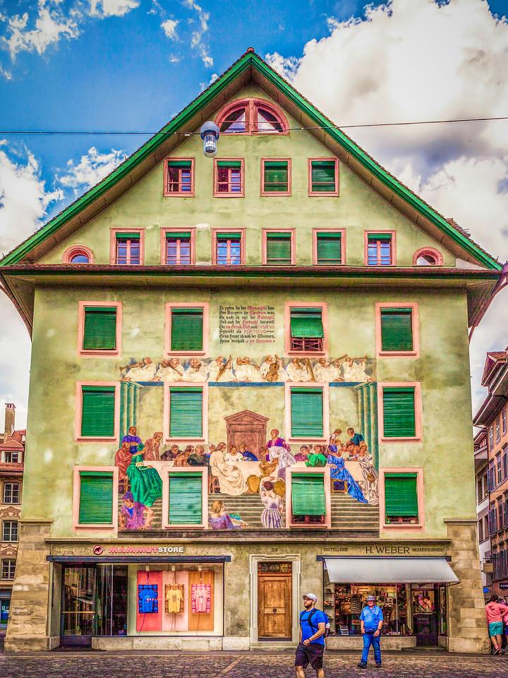 瑞士卢塞恩(Lucerne),墙上杰作