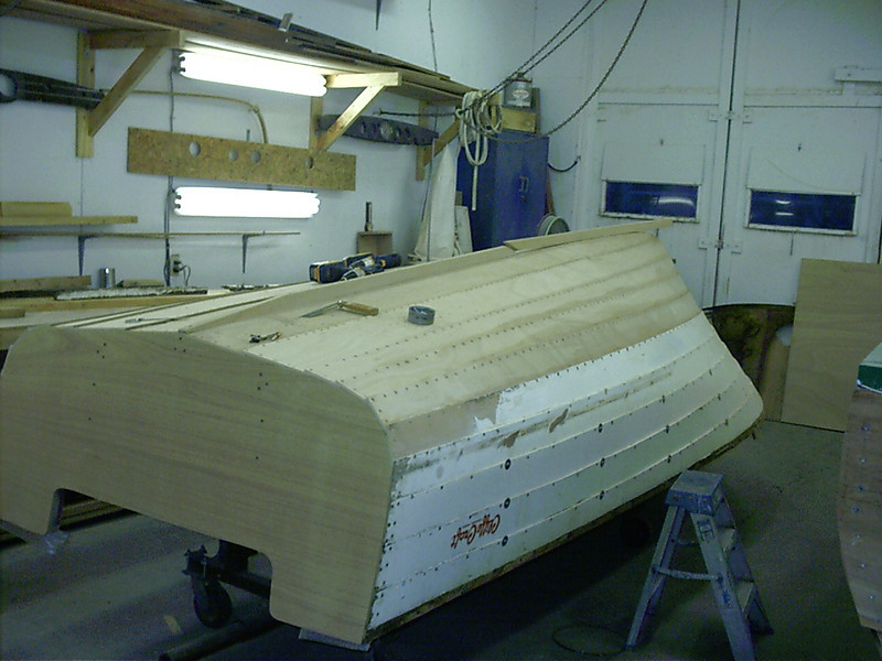 Another view of new outside keel.