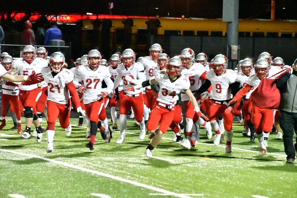 . Brittany Chay - The News-Herald Photos from the Mentor vs. St. Edward Division I regional semifinal football game on Nov. 10.