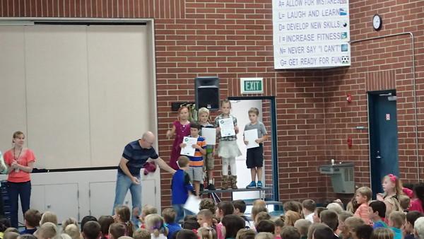 Sean's Kindergarten Award