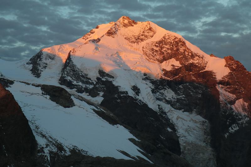 Sunrise on Piz Bernina