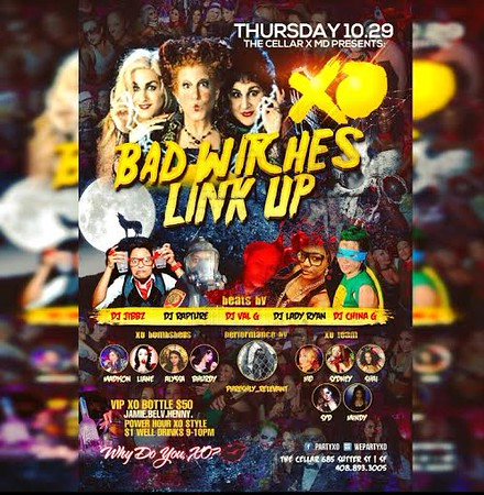 Bad Witches Link Up @ The Cellar-SF 10.29.15