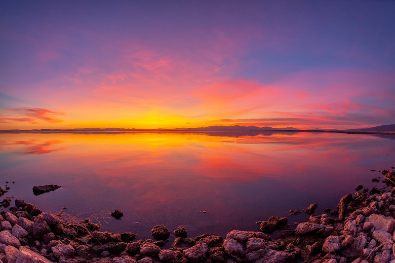 Splendid Smooth Still Shiny Sparkling Saturday Salton Sea Sunset